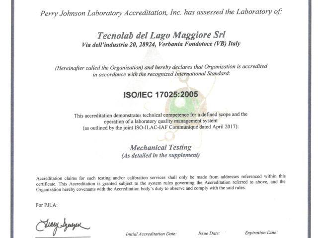 PJ certificato foto
